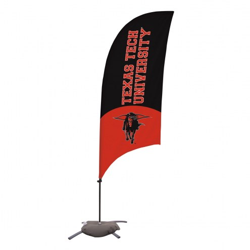 Texas Tech Red Raiders 7.5' Razor Feather Flag with Cross Base