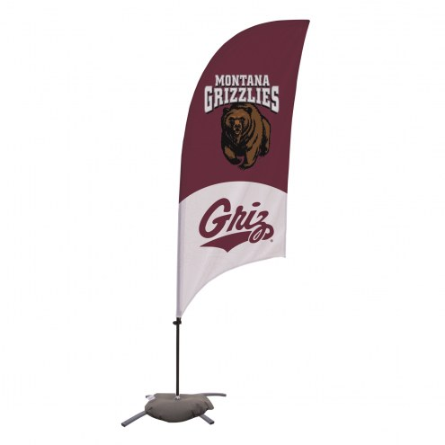 Montana Grizzlies 7.5' Razor Feather Flag with Cross Base
