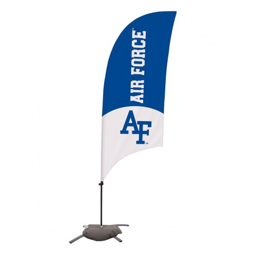 Air Force Falcons 7.5' Razor Feather Flag with Cross Base