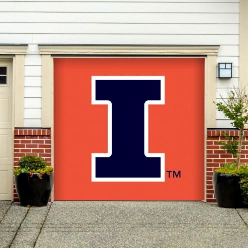 Illinois Fighting Illini Single Garage Door Banner