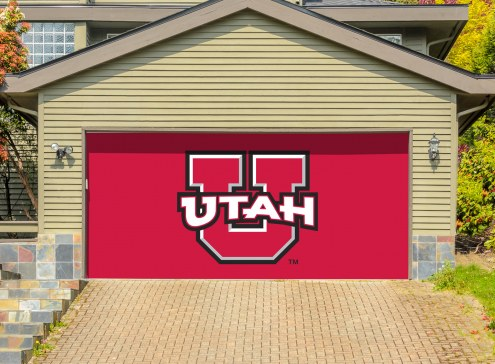 Utah Utes Double Garage Door Banner
