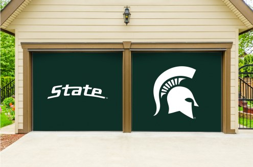 Michigan State Spartans Split Garage Door Banner