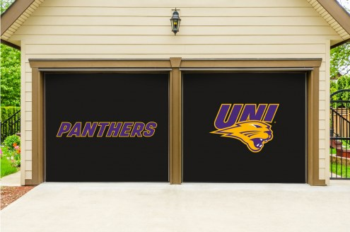 Northern Iowa Panthers Split Garage Door Banner