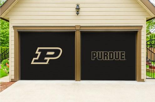 Purdue Boilermakers Split Garage Door Banner