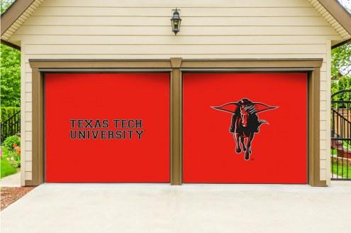 Texas Tech Red Raiders Split Garage Door Banner