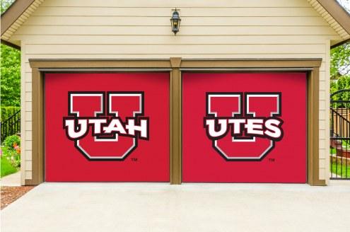 Utah Utes Split Garage Door Banner