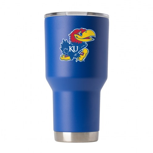 Kansas Jayhawks 30 oz. Stainless Steel Powder Coated Tumbler