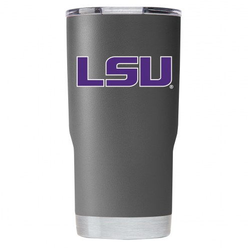 LSU Tigers 20 oz. Stainless Steel Powder Coated Tumbler