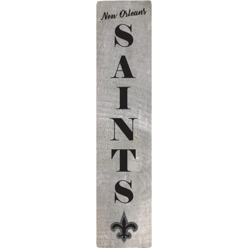 New Orleans Saints Vertical Barn Board