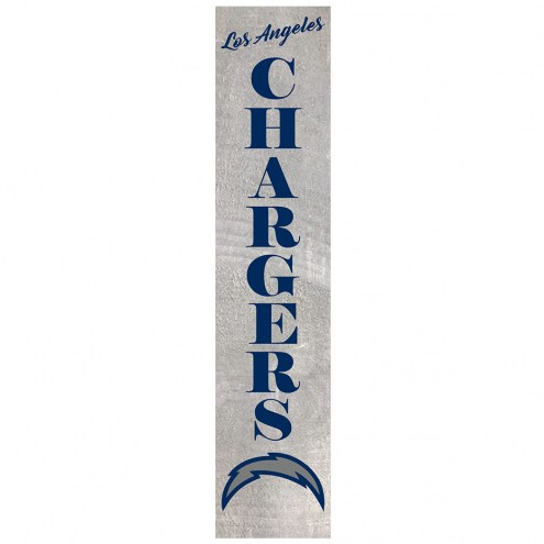 Los Angeles Chargers Vertical Barn Board