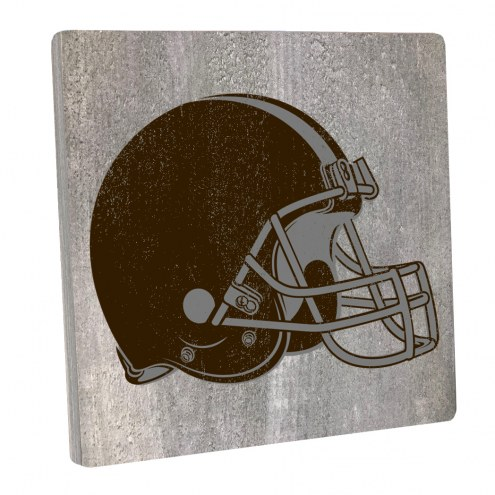 Cleveland Browns Vintage Square Wall Sign