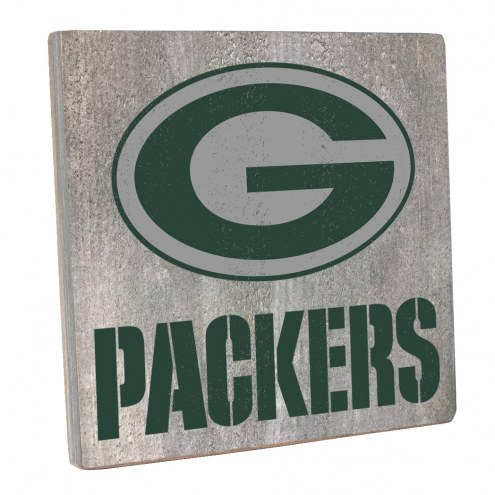 Green Bay Packers Vintage Square Wall Sign