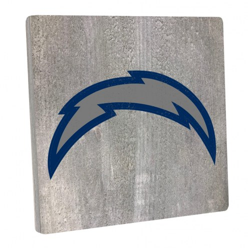 Los Angeles Chargers Vintage Square Wall Sign