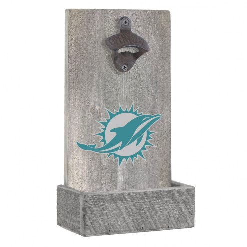 Miami Dolphins Wall Mounted Bottle Opener
