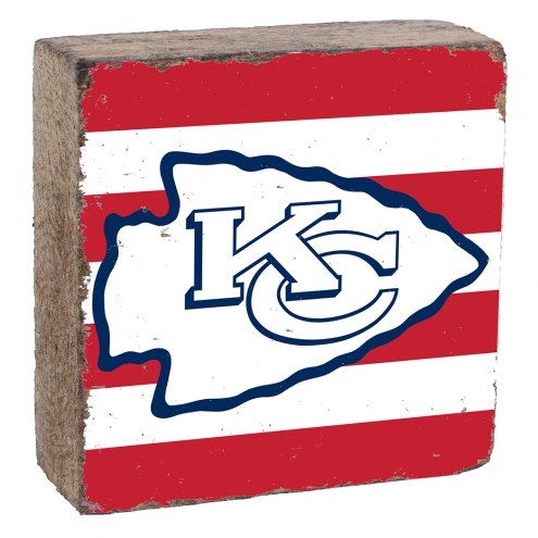 Kansas City Chiefs Rustic Block