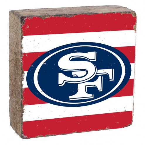San Francisco 49ers Rustic Block