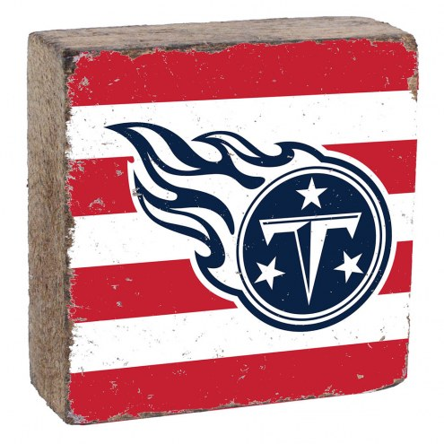 Tennessee Titans Rustic Block