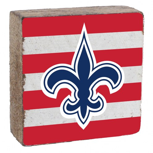 New Orleans Saints Rustic Block