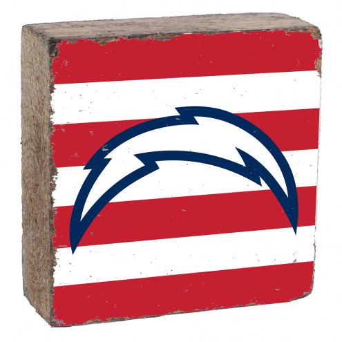 Los Angeles Chargers Rustic Block