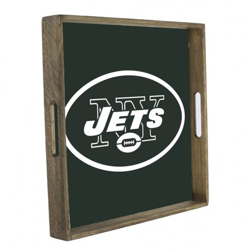 New York Jets Wooden Tray