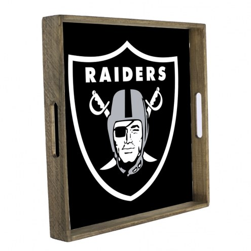 Oakland Raiders Wooden Tray