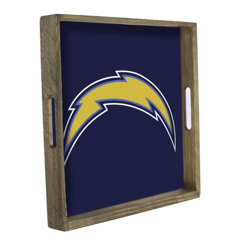 Los Angeles Chargers Wooden Tray