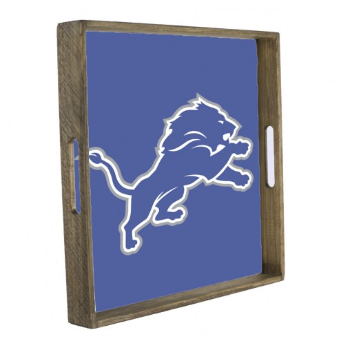 Detroit Lions Wooden Tray