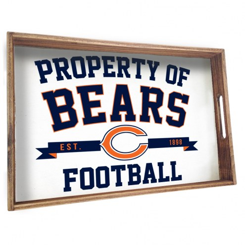 Chicago Bears Wooden Serving Tray