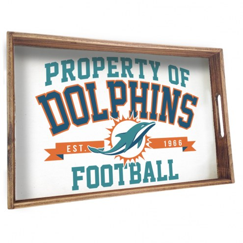 Miami Dolphins Wooden Serving Tray