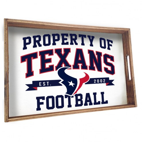 Houston Texans Wooden Serving Tray