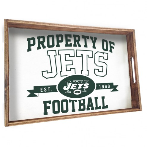 New York Jets Wooden Serving Tray