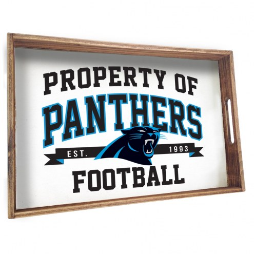 Carolina Panthers Wooden Serving Tray
