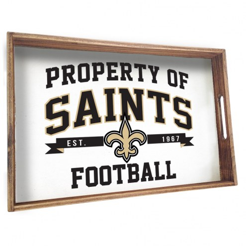 New Orleans Saints Wooden Serving Tray