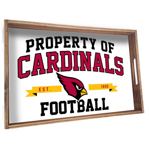 Arizona Cardinals Wooden Serving Tray