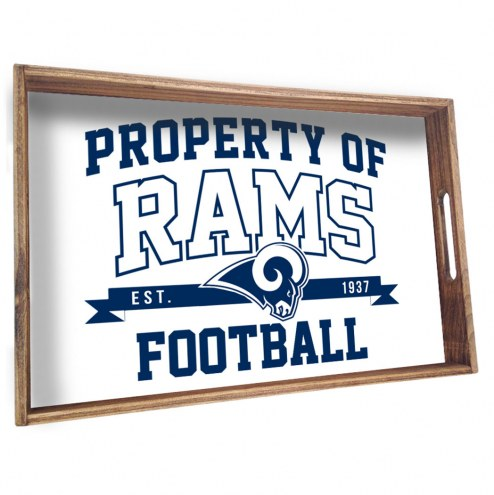 Los Angeles Rams Wooden Serving Tray