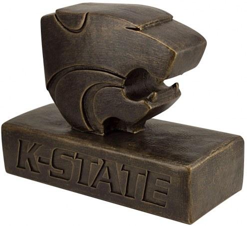 """Kansas State Wildcats """"PowerCat Logo"""" Stone College Mascot"""