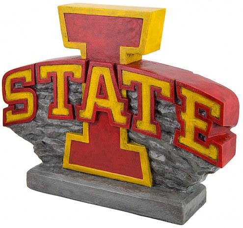 "Iowa State Cyclones ""Power I Logo"" Stone College Mascot"