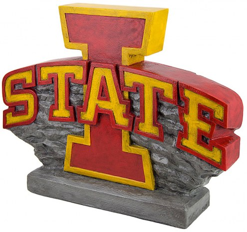 "Iowa State Cyclones ""Power I Logo"" Stone College Mascot"