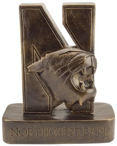 "Northwestern Wildcats ""N-Cat"" Stone College Mascot"