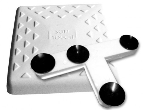 """Soft Touch 15"""" Indoor Baseball Bases with Floor Mounting - Set of 3"""