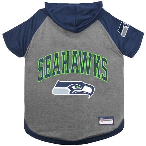 Seattle Seahawks Dog Hoodie Tee
