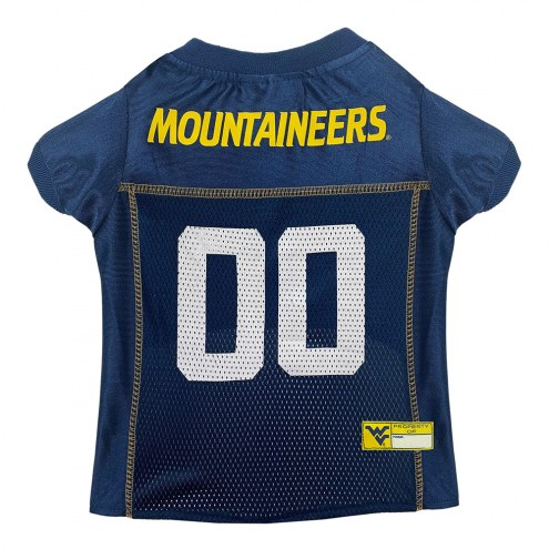 West Virginia Mountaineers Dog Football Jersey