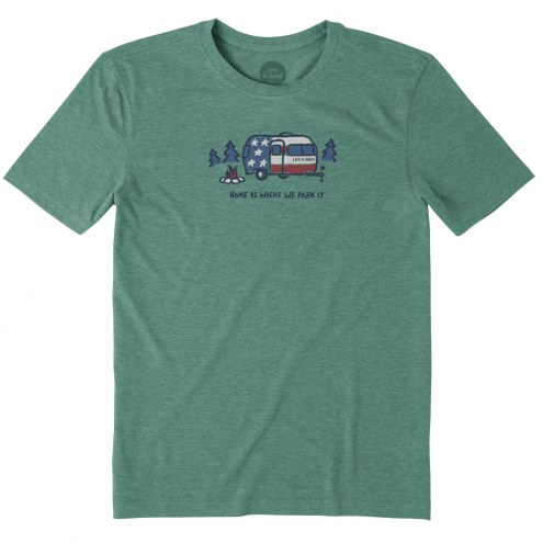 Life is Good Home is Where We Park It Cool Men's T-Shirt