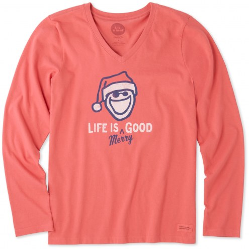 Life is Good Women's Life is Merry Good Crusher Long Sleeve Shirt