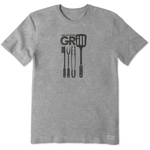 Life is Good Men's All Up In My Grill Crusher T-Shirt