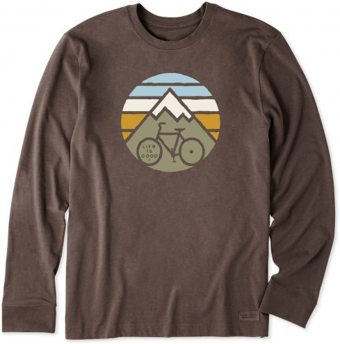 Life is Good Men's Clean Mountain Bike Long Sleeve Crusher Shirt