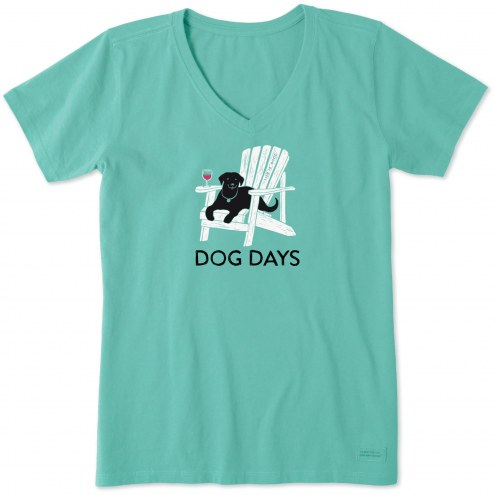 Life is Good Women's Dog Days Crusher V-Neck T-Shirt