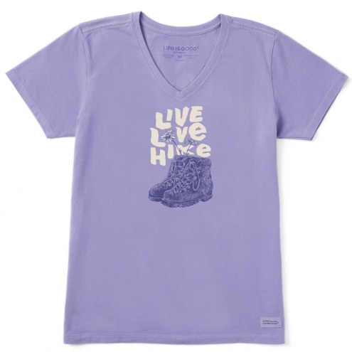 Life is Good Women's Live Love Hike Crusher V-Neck T-Shirt