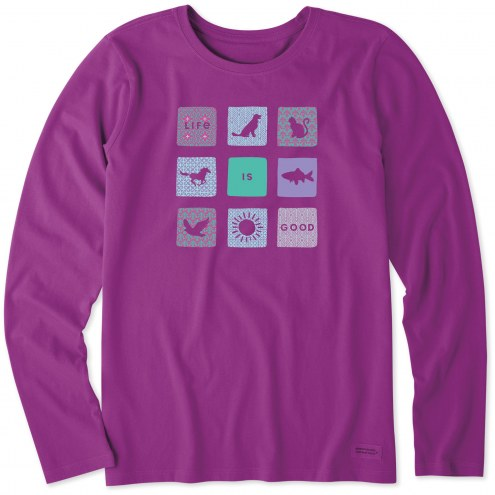 Life is Good Women's All Life is Good Long Sleeve Crusher Shirt