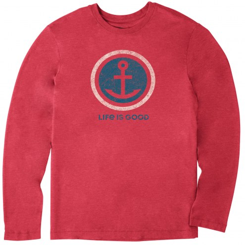 Life is Good Men's Anchor Coin Long Sleeve Cool Shirt
